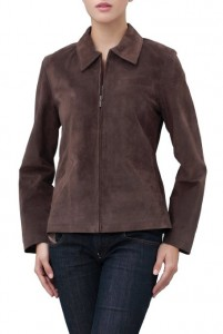 Women's Classic Leather Zip Front Jacket 2014