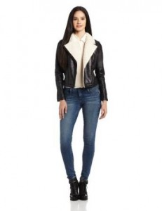 women aviator leather jacket