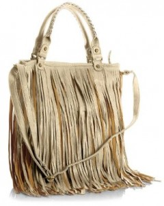 Casual handbag with fringe