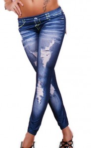 ladies ripped jeans