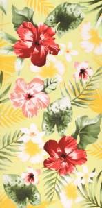 Flower printed towels