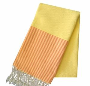 Vibrant solid colored towels