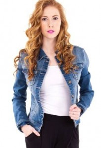 ladies denim jacket for work