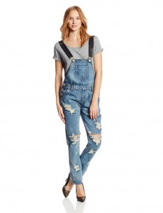 latest trends long denim overalls 2014-2015