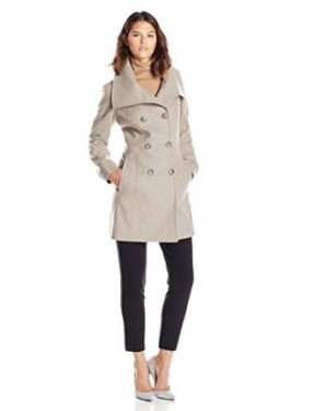 double breasted coat for ladies 2014