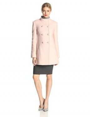 double-breasted wool coat for women 2014-2015