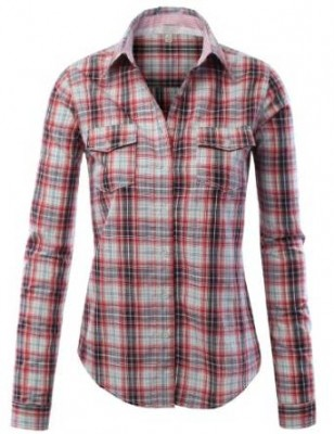 checkered shirt for women 2015