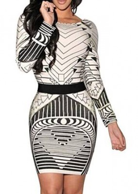latest geometric dresses 2015