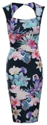 2014-2015 floral print dress