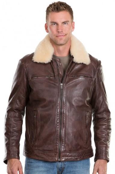 2016 mens shearling jacket
