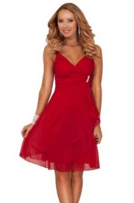 2015 red night out dress