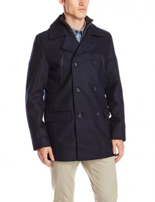 latest pea coat for gents 2015