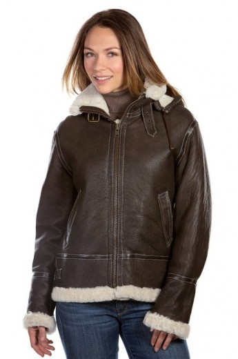 2015 latest shearling jackets for women