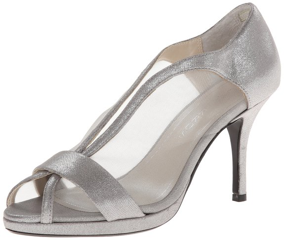 metalic sandals