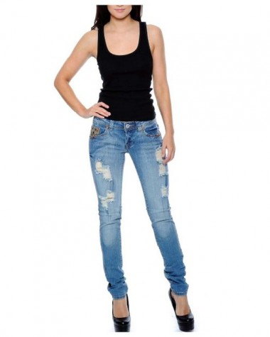 Women's Classic Basic and Distressed Denim Jeans 2015-2016