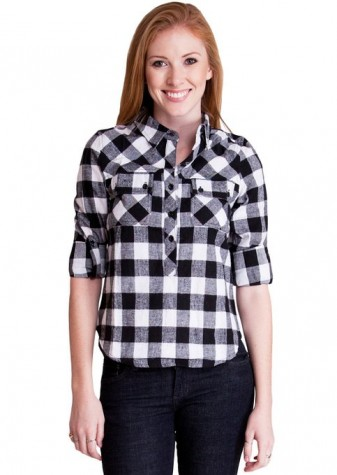 checkered shirt for women 2015-2016