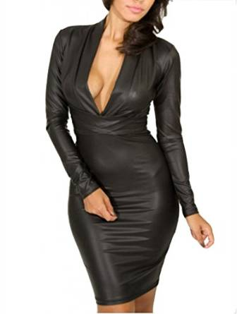 latest leather dress 2015-2016