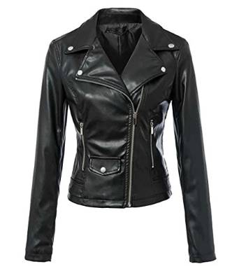 womens bets leather jacket 2016