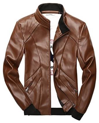 brown leather jacket 2016