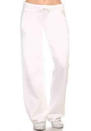 white comfy pants