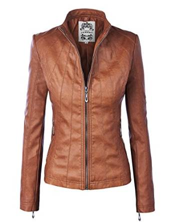 2018 brown leather jacket