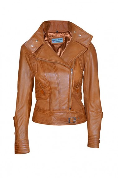 ladies brown leather jacket 2018