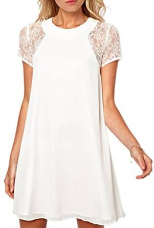 ladies white dress 2018