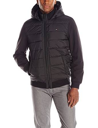 Tommy Hilfiger Men's Mixed-Media Puffer Jacket 2016