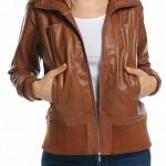 Womens Leather Bomber Jacket 2016