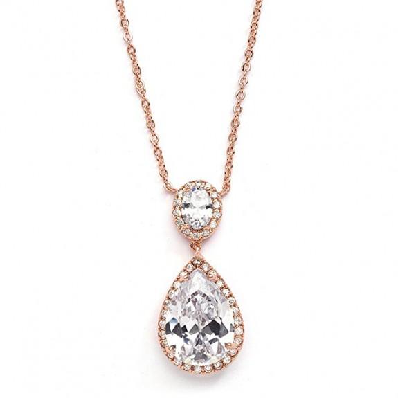 ladies rose gold necklace 2017