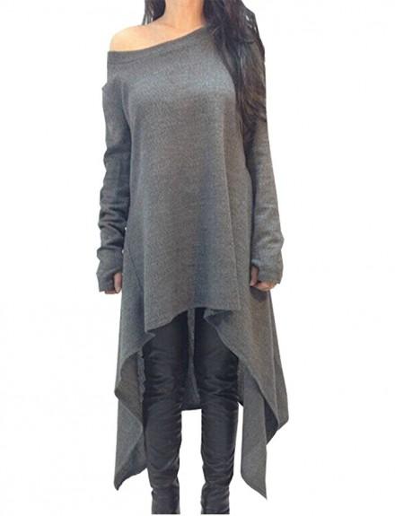 ladies long dress sweater 2017