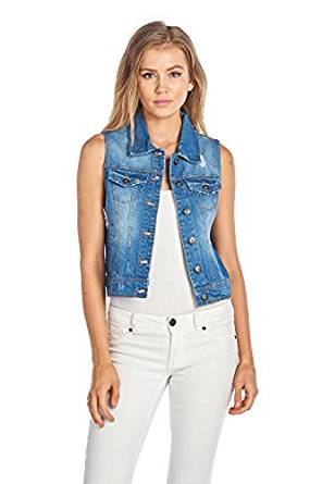 beautiful denim vest 2018