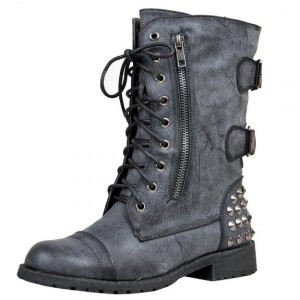military laced up boots for women