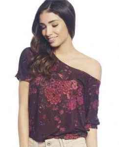 printed floral t shirt