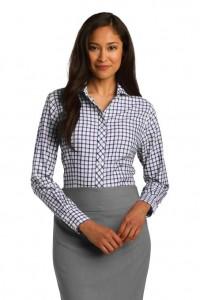 Women's Checkered Dress Shirt