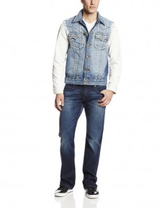young men denim jacket