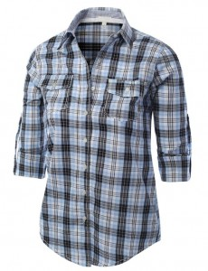 womens checkered shirt