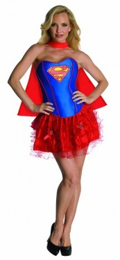 superman supergirl costumes for women