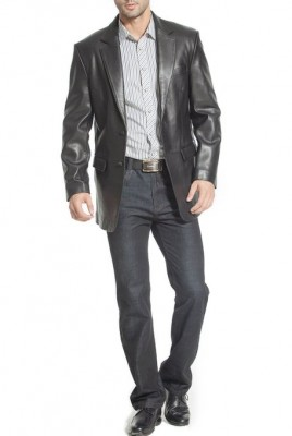 gents classic leather jacket 2015