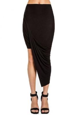 long asymetrical skirt