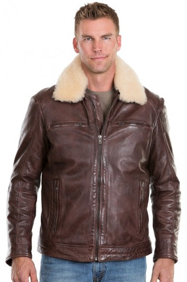 2016 mens shearling jacket