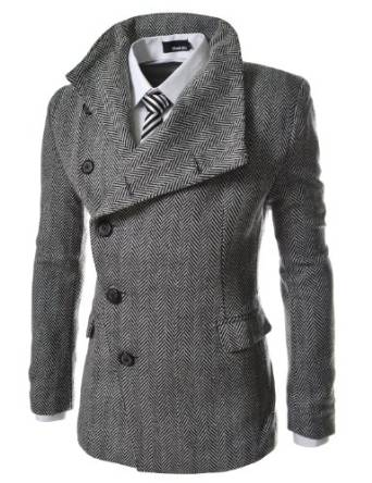 2015-2016 pea coat for men