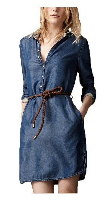 2015 2016 womens denim dress