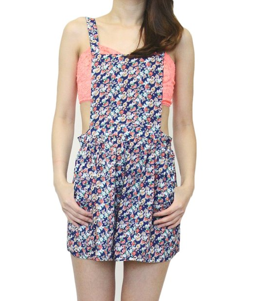 2015 floral print overalls
