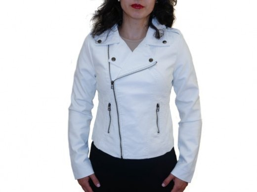 white motorcycle leather jacket  2015