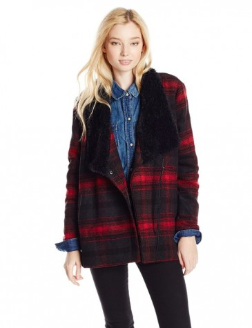 Women's Rydell Plaid Wool Blend Jacket Wubby Collar 2015-2016
