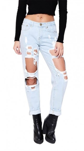 ladies ripped jeans 2016