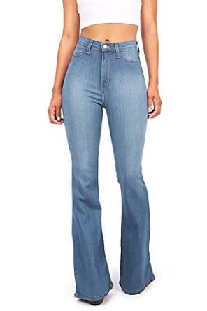 flare high waist jean