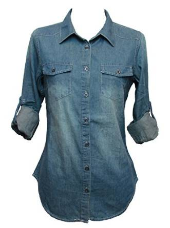 womens denim shirt 2015-2016