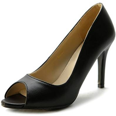 2015-2016 black heel pump